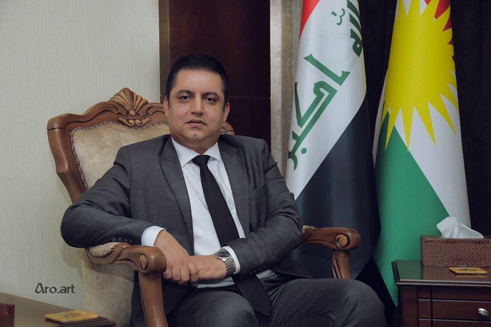 Photo of Alan Hamasaid, Minister of Education for (Shkoi Kurdistan):