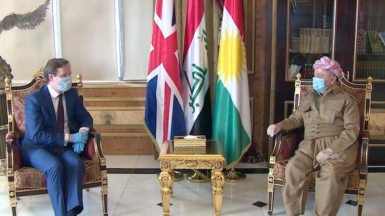 Photo of Masud Barzani meets with U.K ambassador in Iraq